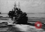 Image of United States Coast Guard transports carry amphibious forces Guadalcanal Solomon Islands, 1942, second 20 stock footage video 65675041744