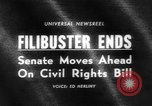 Image of Civil Rights Act nearing passage Washington DC USA, 1964, second 1 stock footage video 65675041871