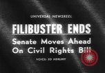 Image of Civil Rights Act nearing passage Washington DC USA, 1964, second 2 stock footage video 65675041871