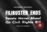 Image of Civil Rights Act nearing passage Washington DC USA, 1964, second 4 stock footage video 65675041871