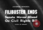 Image of Civil Rights Act nearing passage Washington DC USA, 1964, second 5 stock footage video 65675041871