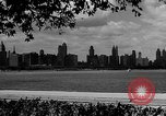 Image of Chicago landmarks and 1950s street scenes Chicago Illinois USA, 1953, second 3 stock footage video 65675041928