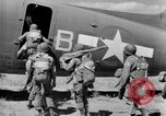 Image of C 47 aircraft with American paratroopers in World War 2 European Theater, 1943, second 15 stock footage video 65675041942