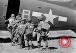 Image of C 47 aircraft with American paratroopers in World War 2 European Theater, 1943, second 22 stock footage video 65675041942