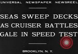 Image of USS Pensacola Brooklyn New York City USA, 1930, second 9 stock footage video 65675041974