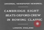 Image of Rowing Classic London England United Kingdom, 1931, second 9 stock footage video 65675041975