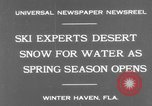 Image of surf board Winter Haven Florida USA, 1931, second 3 stock footage video 65675041976