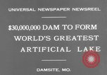 Image of Bagnell Dam Missouri United States USA, 1931, second 3 stock footage video 65675041980