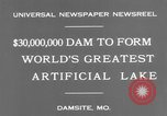 Image of Bagnell Dam Missouri United States USA, 1931, second 7 stock footage video 65675041980