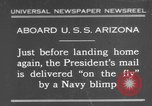 Image of President Hoover aboard USS Arizona United States USA, 1931, second 1 stock footage video 65675041983