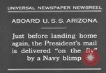 Image of President Hoover aboard USS Arizona United States USA, 1931, second 2 stock footage video 65675041983