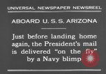 Image of President Hoover aboard USS Arizona United States USA, 1931, second 7 stock footage video 65675041983