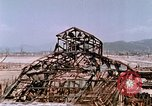 Image of destructed building Hiroshima Japan, 1946, second 60 stock footage video 65675042168