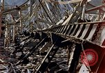 Image of fire truck trapped Nagasaki Japan, 1946, second 13 stock footage video 65675042182