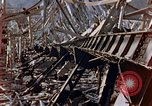 Image of fire truck trapped Nagasaki Japan, 1946, second 15 stock footage video 65675042182