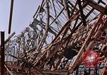 Image of steel beam structure Nagasaki Japan, 1946, second 12 stock footage video 65675042183