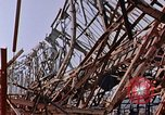 Image of steel beam structure Nagasaki Japan, 1946, second 21 stock footage video 65675042183
