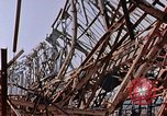 Image of steel beam structure Nagasaki Japan, 1946, second 22 stock footage video 65675042183