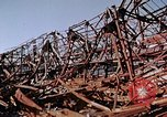 Image of steel beam structure Nagasaki Japan, 1946, second 42 stock footage video 65675042183