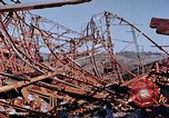Image of steel beam structure Nagasaki Japan, 1946, second 55 stock footage video 65675042183