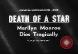 Image of Various Marilyn Monroe scenes of 1950s and early 1960s United States USA, 1962, second 2 stock footage video 65675042219