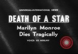 Image of Various Marilyn Monroe scenes of 1950s and early 1960s United States USA, 1962, second 4 stock footage video 65675042219