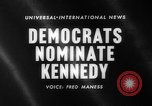 Image of John F Kennedy nominated for President Los Angeles California USA, 1960, second 2 stock footage video 65675042244