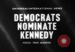 Image of John F Kennedy nominated for President Los Angeles California USA, 1960, second 4 stock footage video 65675042244