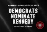Image of John F Kennedy nominated for President Los Angeles California USA, 1960, second 5 stock footage video 65675042244
