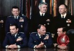 Image of Joint Chiefs of Staff photographed by the press Washington DC USA, 1974, second 25 stock footage video 65675042311