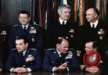Image of Joint Chiefs of Staff photographed by the press Washington DC USA, 1974, second 26 stock footage video 65675042311