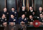 Image of Joint Chiefs of Staff photographed by the press Washington DC USA, 1974, second 27 stock footage video 65675042311