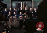 Image of Joint Chiefs of Staff photographed by the press Washington DC USA, 1974, second 30 stock footage video 65675042311