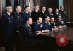 Image of Joint Chiefs of Staff photographed by the press Washington DC USA, 1974, second 50 stock footage video 65675042311