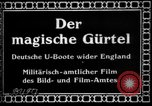 Image of German submarine, U-35 commences voyage Germany, 1917, second 3 stock footage video 65675042358