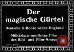 Image of German submarine, U-35 commences voyage Germany, 1917, second 4 stock footage video 65675042358