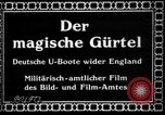 Image of German submarine, U-35 commences voyage Germany, 1917, second 6 stock footage video 65675042358