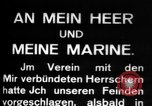 Image of German submarine, U-35 commences voyage Germany, 1917, second 8 stock footage video 65675042358