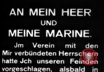 Image of German submarine, U-35 commences voyage Germany, 1917, second 13 stock footage video 65675042358