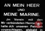 Image of German submarine, U-35 commences voyage Germany, 1917, second 18 stock footage video 65675042358