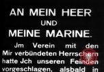 Image of German submarine, U-35 commences voyage Germany, 1917, second 20 stock footage video 65675042358