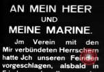 Image of German submarine, U-35 commences voyage Germany, 1917, second 21 stock footage video 65675042358