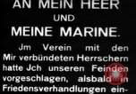 Image of German submarine, U-35 commences voyage Germany, 1917, second 22 stock footage video 65675042358