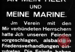 Image of German submarine, U-35 commences voyage Germany, 1917, second 23 stock footage video 65675042358