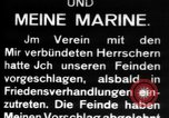 Image of German submarine, U-35 commences voyage Germany, 1917, second 25 stock footage video 65675042358
