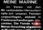Image of German submarine, U-35 commences voyage Germany, 1917, second 27 stock footage video 65675042358