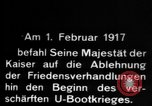 Image of German submarine, U-35 commences voyage Germany, 1917, second 58 stock footage video 65675042358