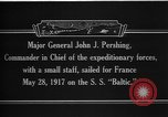 Image of Major General John Pershing France, 1918, second 2 stock footage video 65675042370