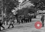 Image of WWI American soldiers at a funeral France, 1918, second 34 stock footage video 65675042397