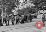 Image of WWI American soldiers at a funeral France, 1918, second 37 stock footage video 65675042397